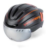 Mountain Bike Helmet And Helmet Integral Molding With LED Warning Iight Mountain Riding Equipment