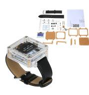 Single-Chip Digital LED Watch Electronic Clock Kit Transpare