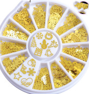 Metal 3D Snowflake Computer Film Thin Patch Nail Patch