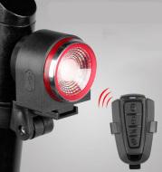 Bike Rear Light With Intelligent Sensor, Anti-theft Alarm, USB Rechargeable, Flash