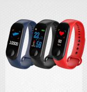 M3 Smart Bracelet M3 Color Screen Bracelet Heart Rate Blood Pressure Bluetooth Sports Pedometer