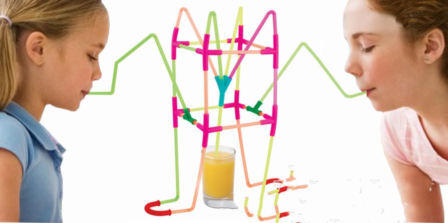 DIY Fun Drinking Straw Connector Kit 2