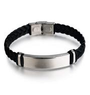 Personalized Jewelry Custom Bracelet for Women Men PU Leather Bracelet