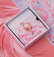 Flamingo Creative Original Brooch Luminous Badge
