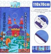 Hot Sale Children Educational Prayer Mat Islamic Muslim Electronic Interactive Prayer Rug Carpet Worship Musallah Speaker Blanke