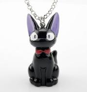 Q Version Cute Gentleman Black Cat Necklace Girls Bag Accessories