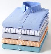 Men'S Plus Size Cotton Oxford Plaid Shirt
