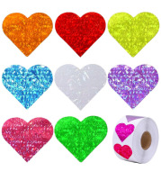 Colorful Love Heart Pattern Valentine's Day Gift Self-adhesive Pattern Label Sticker