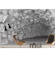 3D Three-Dimensional Extended Space Mural Studio Restaurant Bar Wallpaper Living Room Background Wall Industrial Style Wallpaper