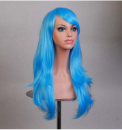 Cos Long Roll Anime Cosplay Color European And American Wig Foreign Trade Multicolor