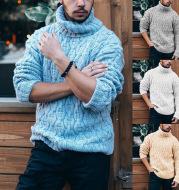 Autumn And Winter Plus Size Men'S Turtleneck Sweater Men'S Pullover Sweater