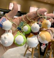 Lucky Cute Retro Creative Three-Dimensional Doll Small Bag Ornament Resin Key Ring