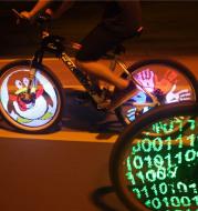 Lumieres Programmables Pour Velo Electrique 128, Bricolage, Rayons De Roues, Lampe Pour Pneus, Affichage D'image Pour Le Cyclisme De Nuit