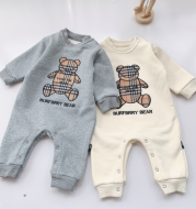Baby Onesies Boys Baby Rompers Trendy Fans Infant Children'S Wear Girls' Rompers Plaid Children'S Jumpsuits Bears