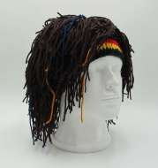1Pc Bob Marley Reggae Jamaican Rasta Hat Dreadlocks Wig Caribbean Beret Cap Beret Dress Apparel Accessories Fashion Style New