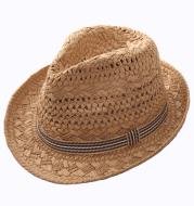 Straw Hat Parent-child Breathable Jazz Hat tide British Top Hat Summer Men's Panama Hat Children's Beach Sun