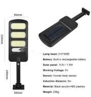 New 213LED Solar Sensor Wall Light Street Light Human Body Sensor Light Outdoor Waterproof Garden Garden Light