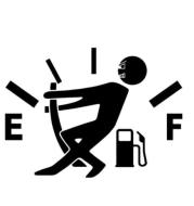 Funny Car Sticker Pull Fuel Tank Pointer Ef Fuel Tank Logo Car Sticker Fuel Tank Vinyl Sticker Decal