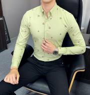 Men's Floral Shirt Korean Style Slim Casual Printed Shirt For Men