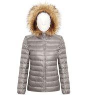 Ladies Flip Hat Warm Cotton Faux Fur Jacket Tops Women Europe and America