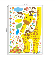 Children'S Room Wall Decoration Stickers Cartoon Height Wall Stickers Removable Bedroom Wallpaper Self-Adhesive Baby Height Ruler