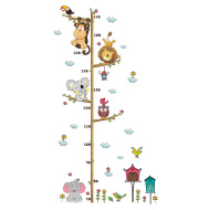 New Cartoon Elephant Lion Zoo Height Stickers Children'S Room Wall Decoration Wall Stickers