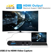 Hdmi Video Capture Card Capture Card 4K Screen Recording Usb3.0 1080P 60Fps Game Capture