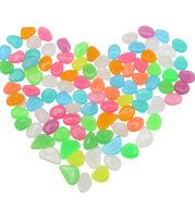 Garden aquarium aquarium luminous stone Artificial fluorite fluorescent luminous pebbles