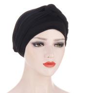 AliExpress New Side Braid Multicolor Soft Turban Hat Muslim Chemo Hat