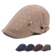 Hat Men'S Cotton Peaked Cap British Retro Beret Outdoor Sun Hat