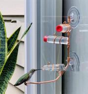 Garden Bird Feeder Supplies Hummingbird Feeder Drinker Suction Cup Easy To Clean Deck Garden Decor Bird Feeders for Wild Birds