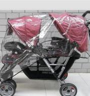 Rain Cover For Twin Stroller In Front And Rear Seats
