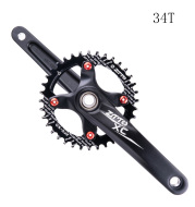 Mountain Bike One-Piece Hollow Crankset Left And Right Cranks