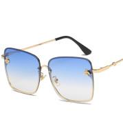 Sunglasses Ladies Fashion Personality Metal Frame Little Bee Sunglasses Men Glasses