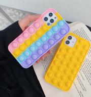 Pop Fidget Reliver Stress Toys Rainbow Phone Case Push Bubble Fidget Antistress Toys Cover