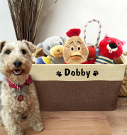 Personalized Dog Toy Basket No Smell Storage Box Free Print