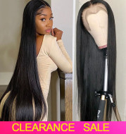Female Black Front Lace Mid-Length Straight Hair