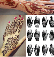 2Sheets Hand Tattoo Decal Henna Stencil Temporary