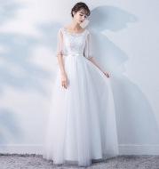 Banquet Evening Dress Female 2021 Spring New Fashion Annual Meeting Host Dress Chorus Performance Long Dress