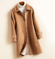 Women's Thick Mid-Length Woolen Coat