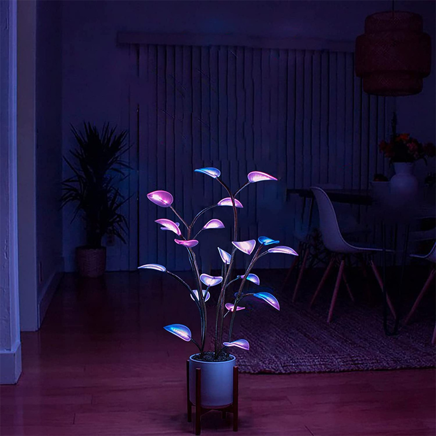 The Magical Led Houseplant - 100 - 300 - 500 Programmable LEDs, Artificial Plants for Home Decor Indoor, Decorative Fairy Light, Bonsai Houseplant Light for Social Gatherings, Dinner Parties, Day & Nights