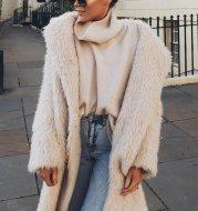 Autumn And Winter Plush Coat Women'S Lamb Wool Warm Pure Color Ladies Cotton Coat