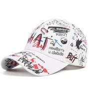 New WHAT Graffiti Baseball Cap Hip Hop Tide Hat Summer Travel Shade Caps Men Women Outdoor Sports Casual Hats Snapback Hats Gorr