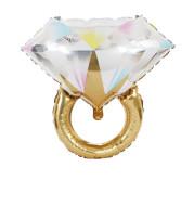 Large Diamond Ring Aluminum Foil Balloon Proposal Wedding Wedding Room Decoration Ido Diamond Ring Aluminum Foil Balloon