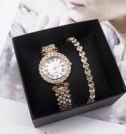 Wristwatch Bracelet Ladies Watch Fashion Diamond Foreign Trade Watch Set