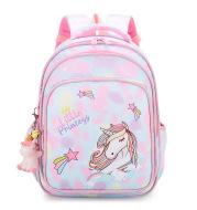 Rainbow Gradient Cartoon Tutoring Children Backpack Elementary School Schoolbag