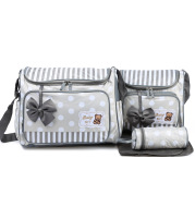 Mommy Bag Four-Piece Bowknot Outing One-Shoulder Multifunctional Large-Capacity Bag For Mother, Baby And Mother