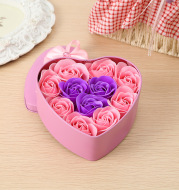 Christmas Event Customized Gift Box Wedding Small Gift 11 Rose Soap Flower Love Iron Box