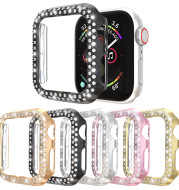 Electroplated Pc Protective Sleeve Double-Row Diamond-Studded Hollow Case
