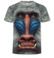 Animal Monkey Print 3D Digital Printing Men's T-Shirt